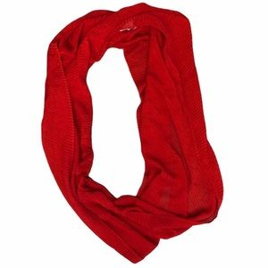 Cherry Red crimped infinity scarf